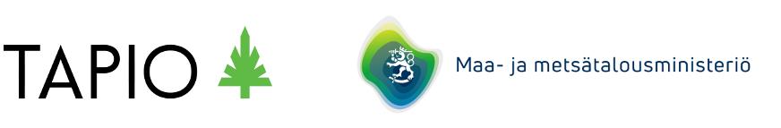 Tapion sekä maa-ja metsätalousministeriön logot