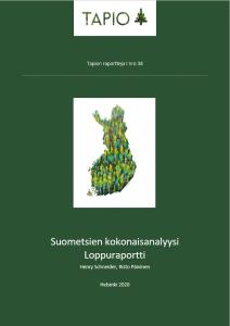 Suometsien kokonaisanalyysi raportti